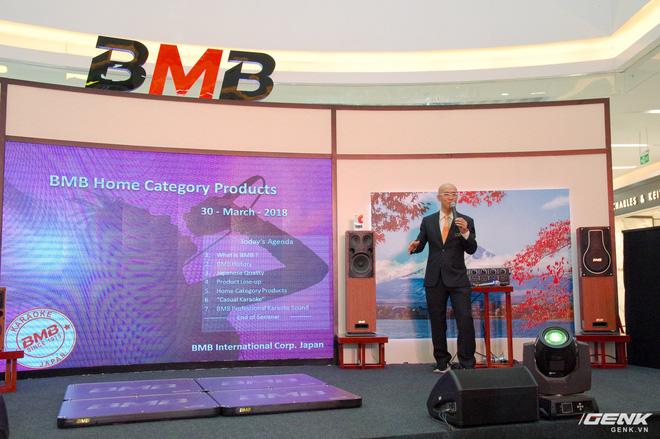 Tổng giám đốc điều hành BMB từ Nhật Bản cũng sang tham dự và giới thiệu các sản phẩm mới