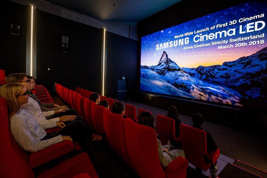 Màn hình 3D Cinema LED 4K, HDR của Samsung sử dụng đầu tiên tại Thụy Sĩ ảnh 1