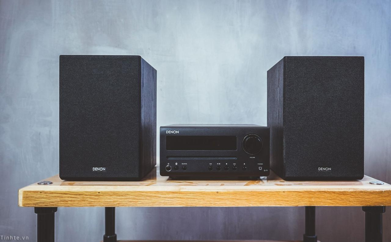 Denon D-T1 - Bộ âm thanh stereo mini all-in-one cho anh em nghe Tết, chơi phòng nhỏ tốt, giá rẻ