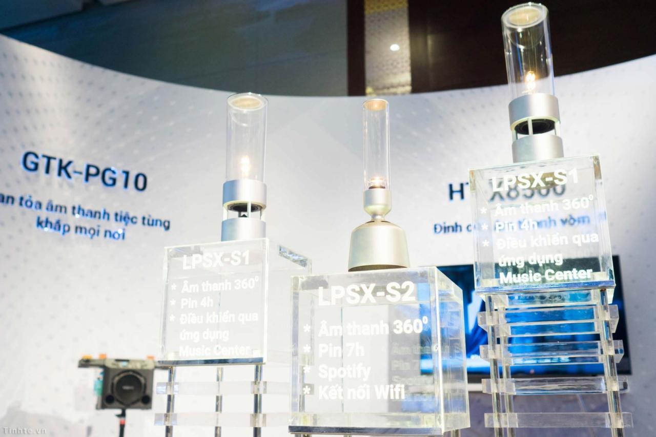 Sony giới thiệu 3 dòng loa mới tại Việt Nam: Loa thuỷ tinh S1/S2, soundbar X8500 và loa party PG10
