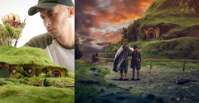 Nhiếp ảnh gia này tái hiện những cảnh đẹp choáng ngợp của phim Chúa tể của những chiếc nhẫn ngay trên chiếc bàn của mình - Ảnh 1.