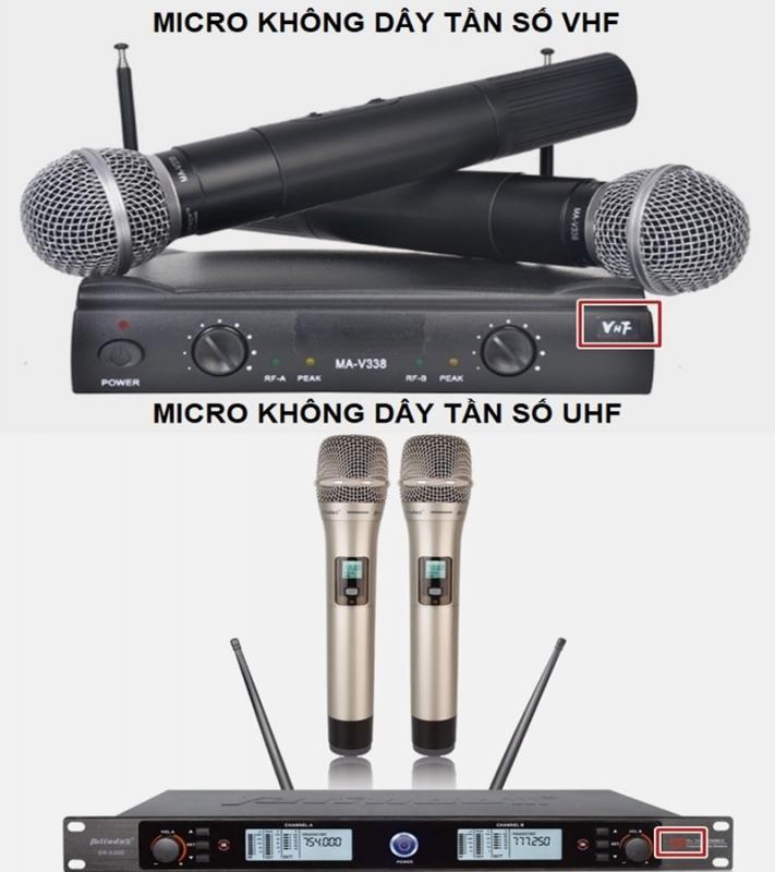 Lựa chọn mua micro có tần số VHF hay UHF?