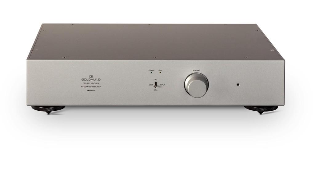 Goldmund Telos 7 NextGen, ampli Thuỵ Sĩ 190W tích hợp USB DAC với mức giá ấn tượng ảnh 4