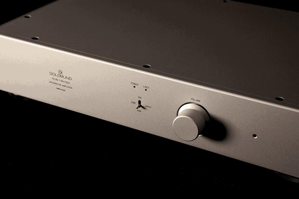 Goldmund Telos 7 NextGen, ampli Thuỵ Sĩ 190W tích hợp USB DAC với mức giá ấn tượng ảnh 2