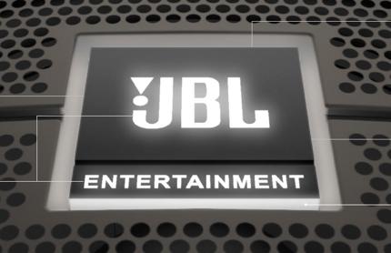 Phần logo JBL sáng lên khi có nguồn