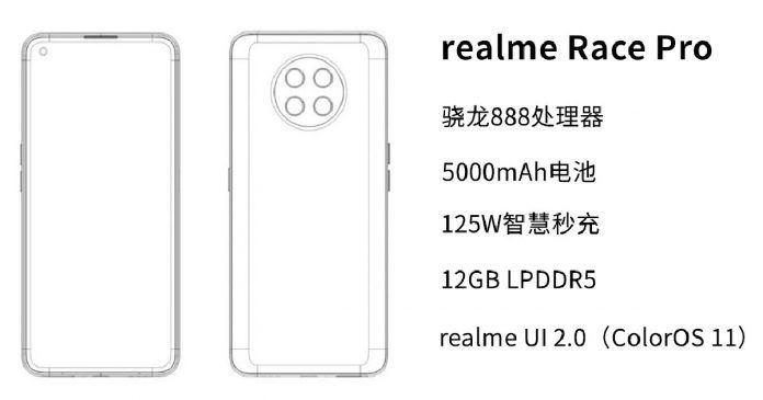 Realme Race Pro chạy Snapdragon 888 lộ cấu hình