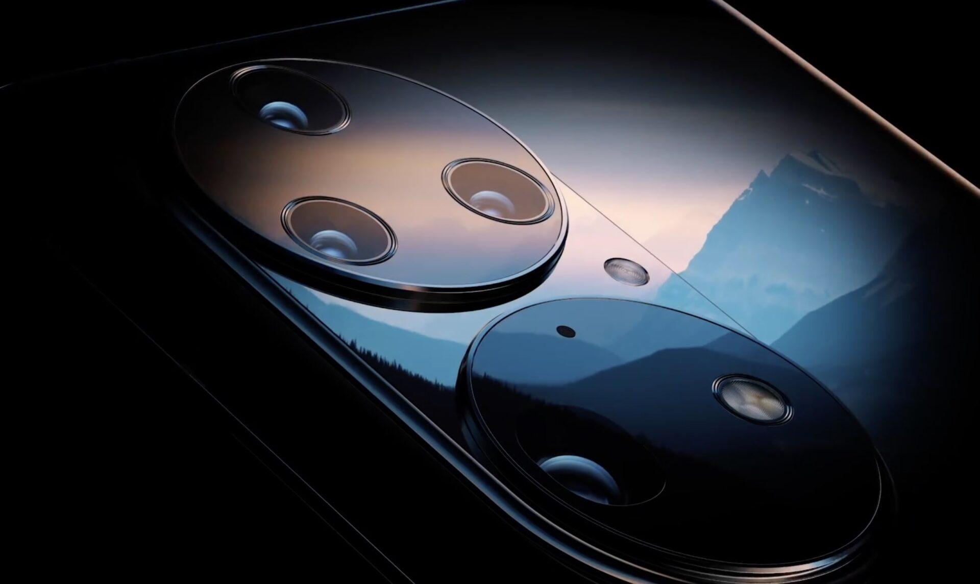 Cận cảnh cụm camera của Huawei P50